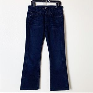 7 For All Mankind Dark Wash Bootcut Jeans 24